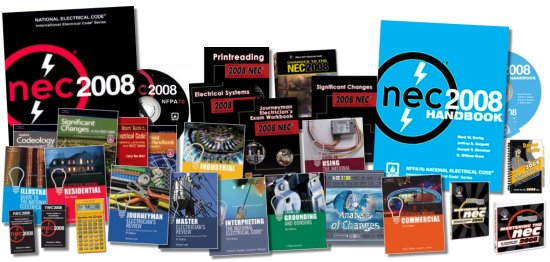 2008 National Electrical Code (NEC) Books, Software