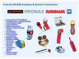 Tools for HVACR Installers & Service Technicians