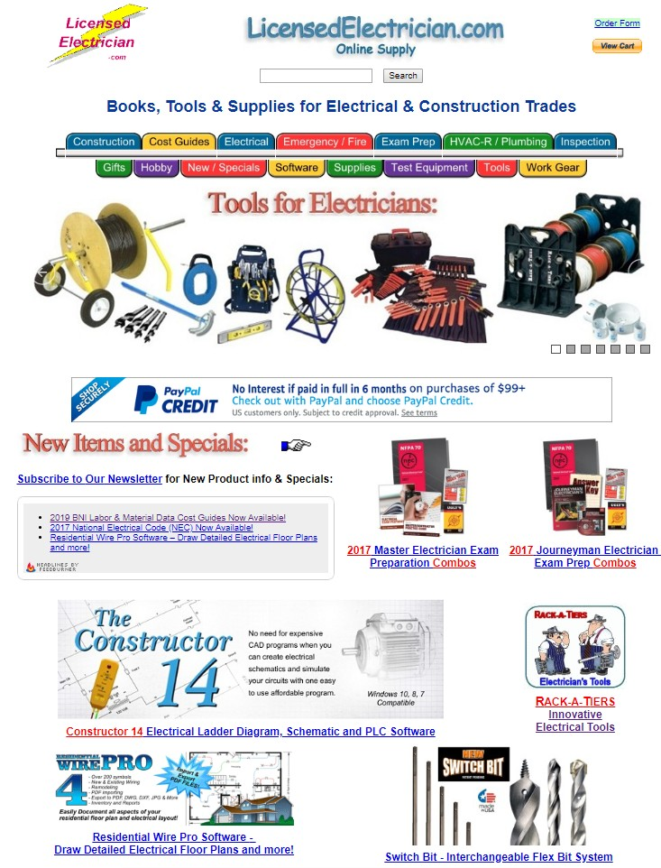 Visit LicensedElectrician.com Online Supply for Books, Tools and Resources for the Electrician, HVAC / Maintenance Tech, and other Construction Trades