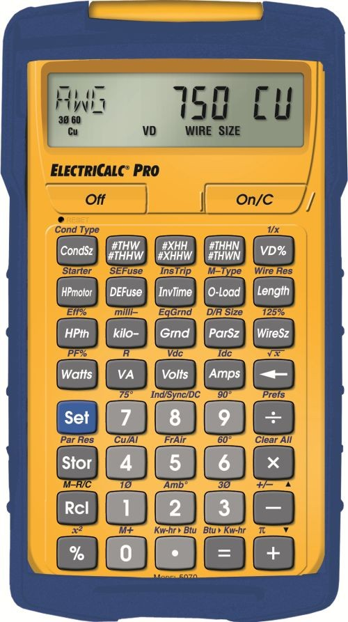 Electricalc pro electrical calculator national electrical code electricalc pro electrical calculator nec calculator keyboard keysfo Image collections