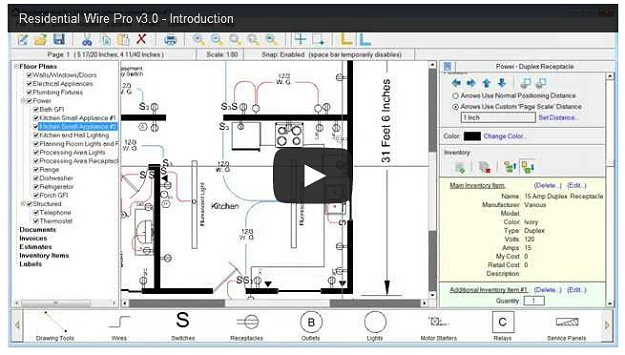 residential wire pro software  draw detailed electrical floor, electrical drawing