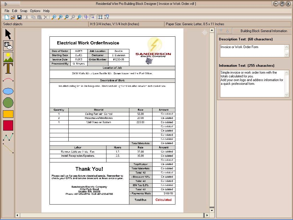 sample contractor invoice template .