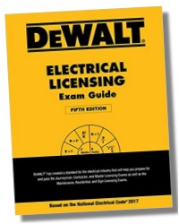 Dewalt 2017 electrical licensing exam guide exam prep for Electrical motor controls for integrated systems fifth edition