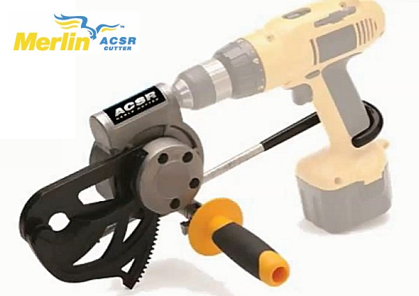 Merlin ACSR Drill Powered Cable Cutter - 35-077 - Cuts up to 3/4 ...