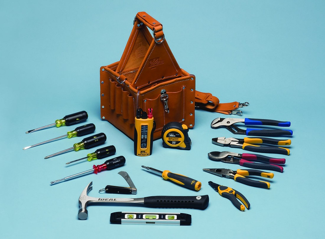 Electricians Leather Tool Pouch