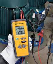 Hand held digital insulation tester ac dc voltage for Motor winding resistance measurement