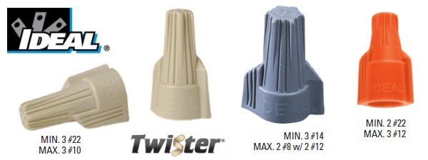 Ideal Twister Wire Connectors - 30-340| 30-341 | 30-342 | Twister ...