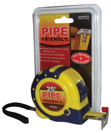 Pipe Friendly Tape Measure Great For Measuring Pipe