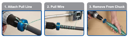 Power Pull-it Compact Wire Puller - the Fast, Easy way to ... on