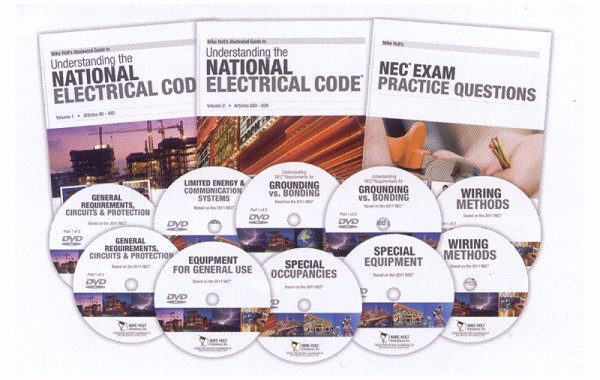 Mike Holt 2011 Detailed (NEC) Code Library - 3 Books & 10 DVDs
