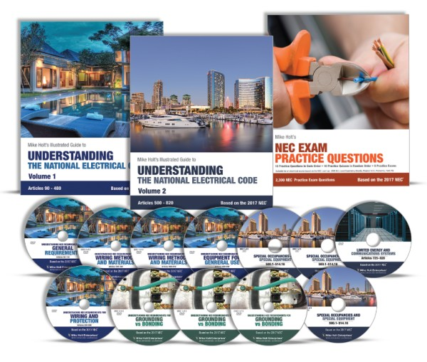 Mike Holt 2017 Understanding the NEC Code Training Library - 3 Books