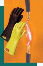 OEL Industrial Rubber Insulating Gloves