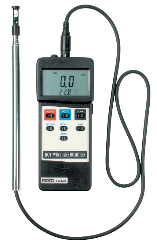 Reed Am 4204 Hot Wire Anemometer W Rs232 Output