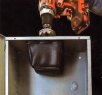 dirt bag catches metal drill shavings