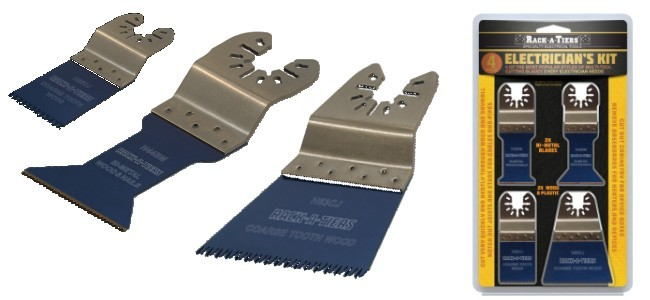 Electrician's 4pc Multi-Tool Cutting Blade Kit
