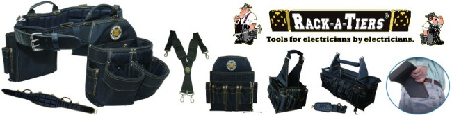 Rackatiers Heavy Duty Tool Belts, Bags & Totes
