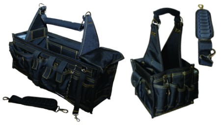 NEW Rack-A-Tiers Electrician 25-Pocket Super Tray Tool Carrier Bag Box w// Strap
