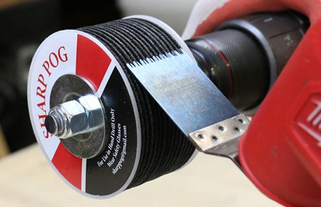 Sharp Pog - Drill Operated Multi-Tool Blade Sharpener
