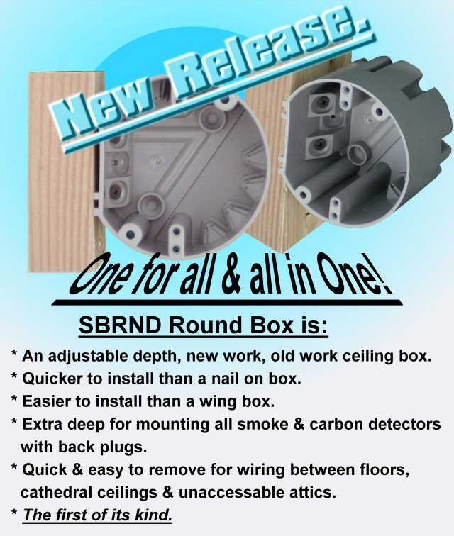 Smart Box SBRND Ceiling Fixture Box   New Release   Click For Larger Image