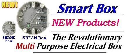NEW Products from Smart Box - SBFAN Paddle Fan Box & SBRND Ceiling Fixture Box
