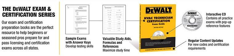 DEWALT HVAC Licensing Exam and Certification Series
