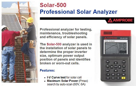Amprobe Solar-500 Professional Solar Power Analyzer