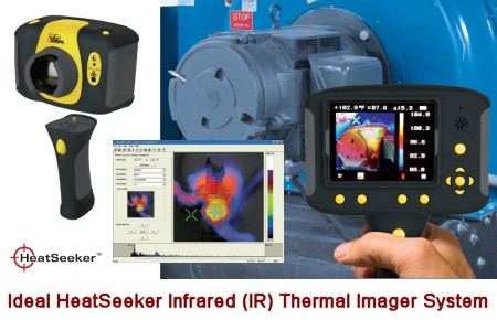 What makes HeatSeeker so useful are the dual cursors that instantly locate the hottest and coldest temperatures on a live screen, and the camera's ability to overlay a thermal image on top of a digital image for easy on-the-job decision making.