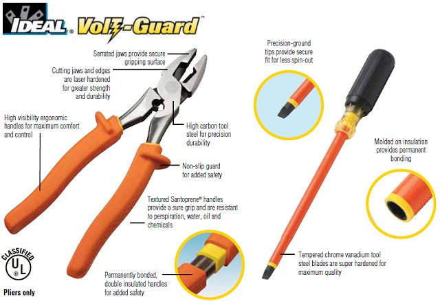 The IDEAL insulated tool line creates a perfect blend of safety, comfort and precision functionality
